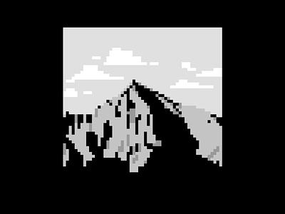 Krivan, High Tatras, Slovakia. pixelart blackandwhite pixelart pixel symbol mountain slovakia krivan