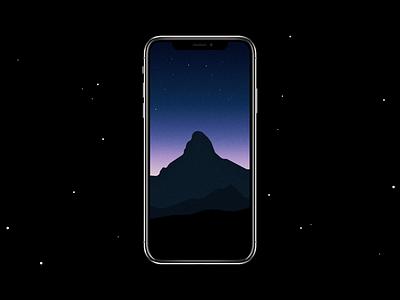 Minimalist Matterhorn wallpaper free minimalist minimal vector simple iphone matterhorn dark night mountain wallpaper