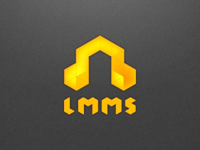 Logo for LMMS (Linux Multi Media Studio) glow yellow lmms linux logo