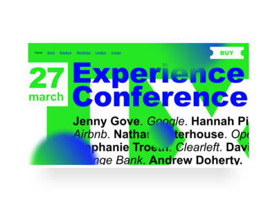 Brutalist redesign of Experience Conference