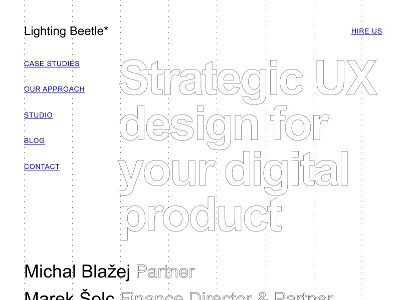 Minimal brutalist approach of LB Studio website