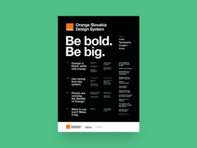 Statements poster designsystem osk orange