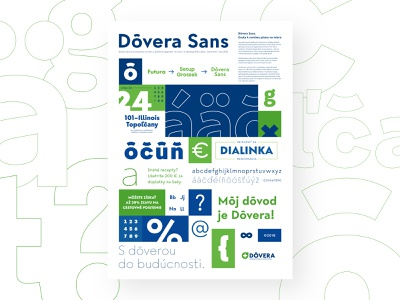 Dôvera Sans Promo Poster V1.0 lightingbeetle slovakia bigname poster plagat pismo job ondrejjob typeface dovera sans dovera