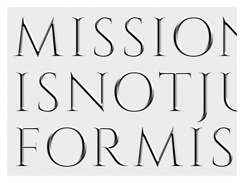 MISSIONISNOTJUSTFORMISSIONARIES latin latin script ancient roman typography typo cinzel calendar kalendar hawran missionaries mission