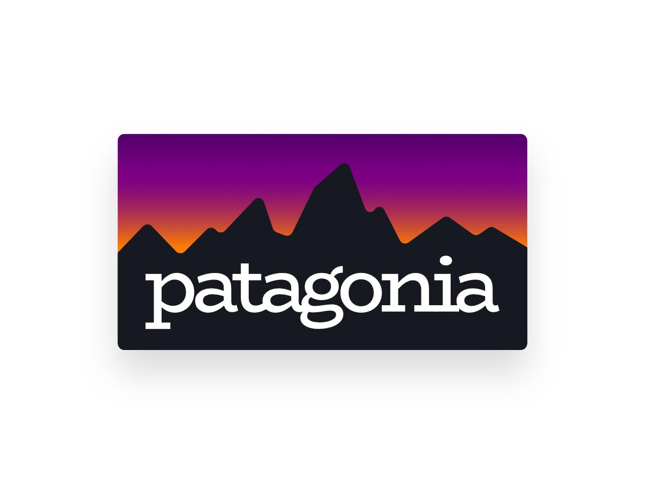 Beloved Patagonia Gradient #02 logo redesign gradient vector patagonia
