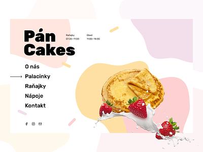 Pán Cakes Redesign lbstudio strawberry sweet food bratislava pan cakes pancakes