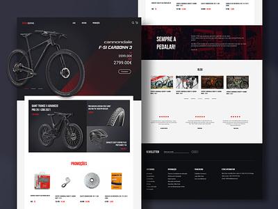 Online Bike Shop clean ux shop loja ecomerce bikeshop bikes landing page design sports bike website landing page ui