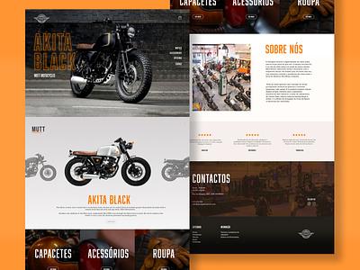 Landing page for a motorbike shop design shopify website webdesign ux vintage rough menstyle men man street landingpage garage shop motorbikes biek motorbike ui
