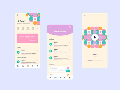 Wellness and meditation App mental health yoga health wellness meditation mobile app design ux ui