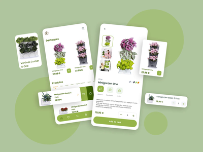 Plant Shop App e-commerce plant shop eco clean simple components green shop farming plant nature app design ux ui