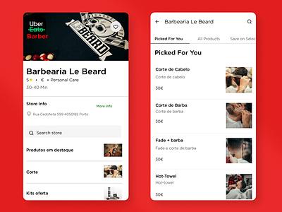 Uber barber branding design ui delivery funny ad campaing app uber beard barber