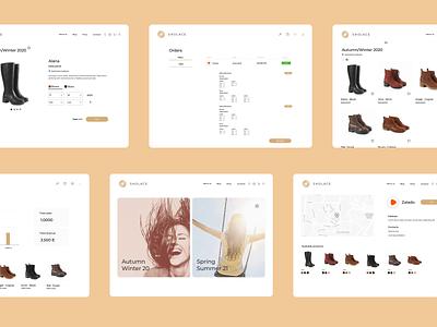 Shoe store - Desktop Version collection backend landingpage fashion store shoes ecommerce website design ux ui