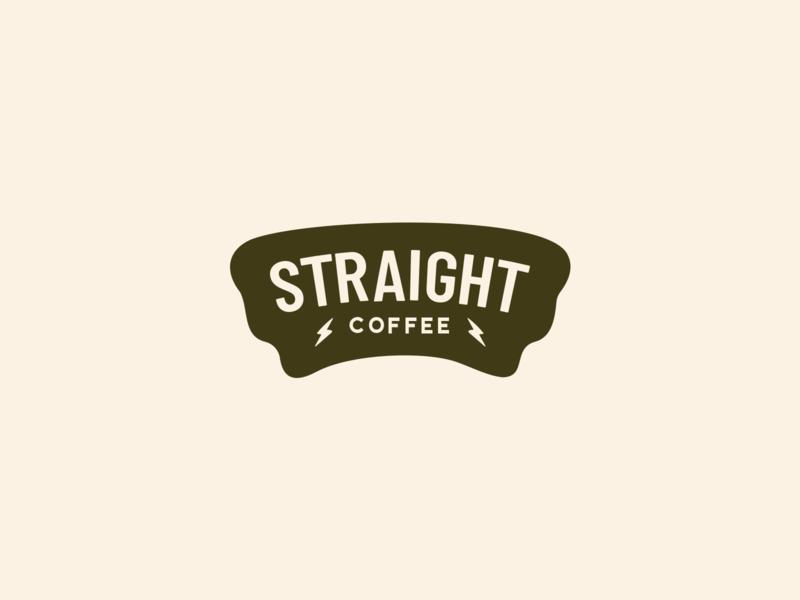 Straight Coffee logo redesign typography vector logo design branding