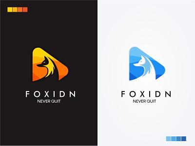 Foxidn Logo logodesign fox logo fox illustration foxes fox website vector logo illustrator flat graphic design app branding
