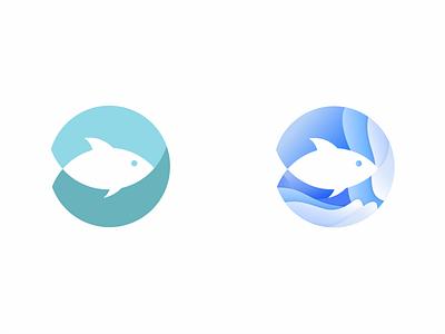 Fish Wave Logo branding logodesign design water wave wave logo fish fishlogo illustration flat graphic design vector logo