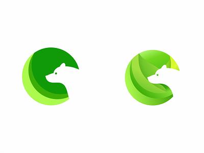Natural Green Bear bear logo green logo natural logo bear design illustration logodesign illustrator graphic design vector logo