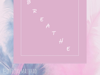 Breathe illustration branding minimal photoshop instagram post typography design