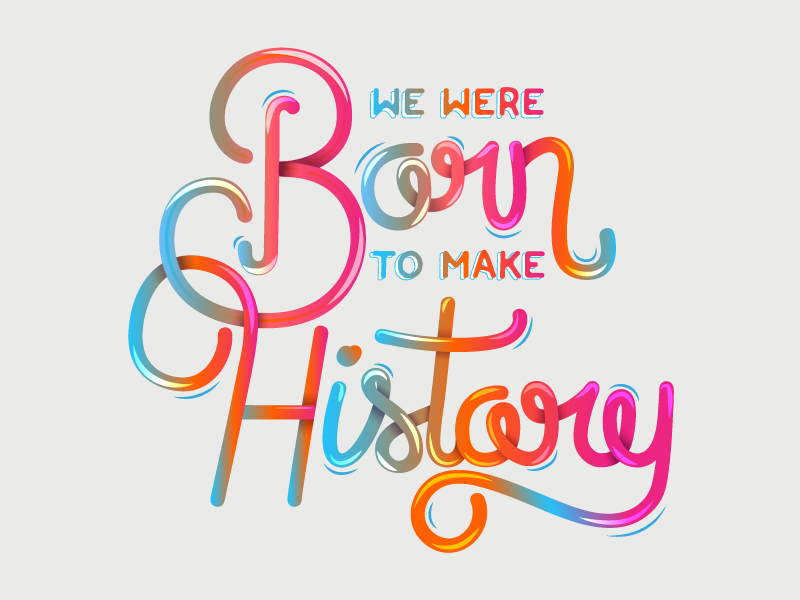 History lettering inspiration creative design typography
