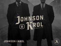 Johnson & Krol Part 2 logotype heritage vintage blackletter monogram branding design font logo vector lettering typography type
