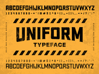 Uniform Typeface typeface design typeface design font vector typography type