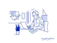 Brand Illustrations monochromatic design vector illustration