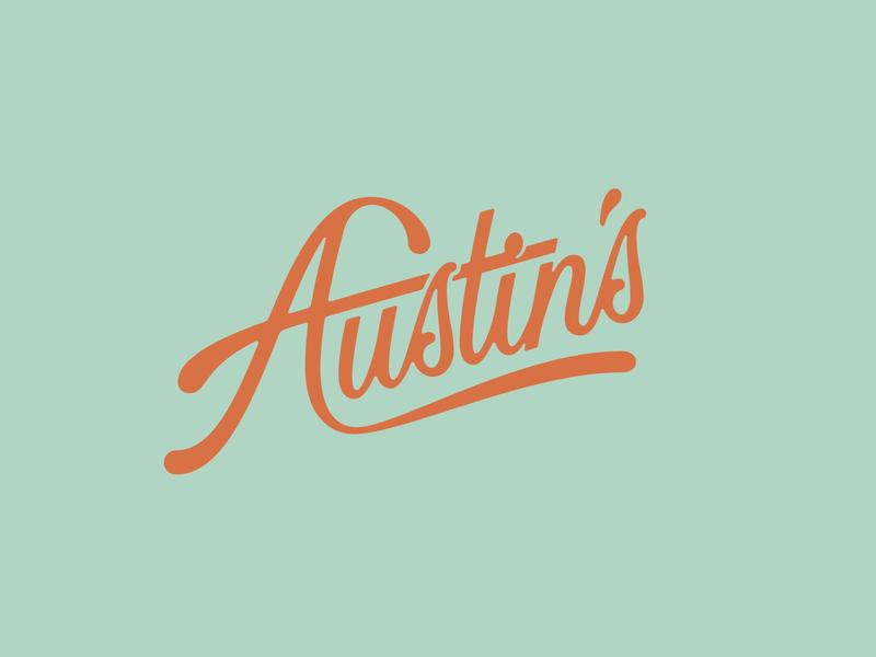 Austin's Rebrand hand lettering cursive logo design bar script typography type lettering logo branding brand rebrand