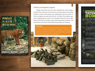 Annual Report Design - Pakke Tiger Reserve adobe cc illustrator cc photoshop illustrator illustration ui ux graphic design design