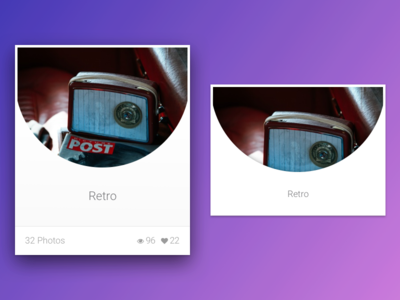 Photo Album UI Design