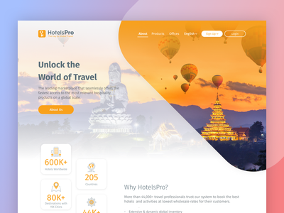 Travel Company Landing Page business travel agency booking ux ui web design landing page travel