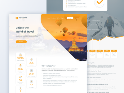 Landing Page business travel agency booking ux ui web design landing page travel