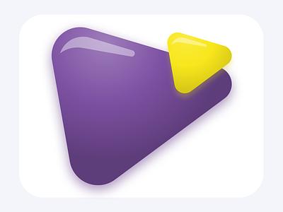 PlayUp app design branding illustration vector logo a day logo video app