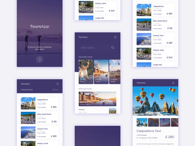 Tour Mobile App mobile app tour design ui design ios app mobile minimal trip webdesign ux app booking travel ui