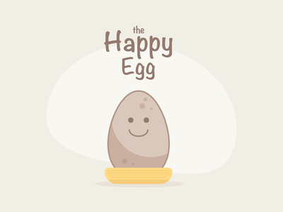 The Happy Egg icon branding vector illustration