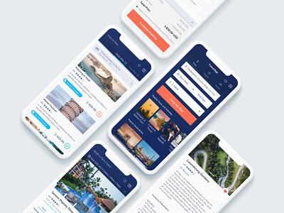 Tour & Travel Mobile App ios app ui design mobile ios trip app booking travel ux ui