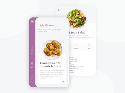 Recipe App food app recipe app ios design app ux ui