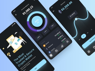 Cryptocurrency Mobile App interface uitrends ethereum mobile app app bitcoin crypto exchange cryptowallet crypto uxui graphic design webdesigner uxdesigner appdesign userinterface userexperience webdesign uidesign uxdesign ui