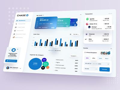 Chase Bank App Dashboard design etheric ux brand identity app fintech loan finance application credit bank ui banking finances financial banking dashboard web app finance app dashboard mobile app