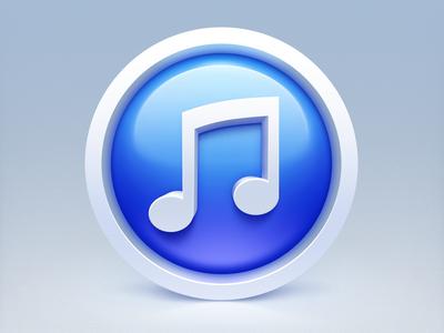iTunes icon itunes icon note blue white ico icns