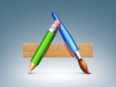 Icons for ReviverSoft apps app icon icons pencil brush ruler