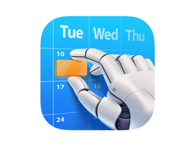 Robot hand icon illustration hand robot icons ios design android icon
