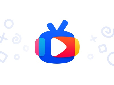 TV for kids logo blue colourful colorful colours colors tv kids icon logotype logo