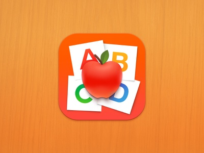 Nutrition icon letters abcd apple logo android ios icon