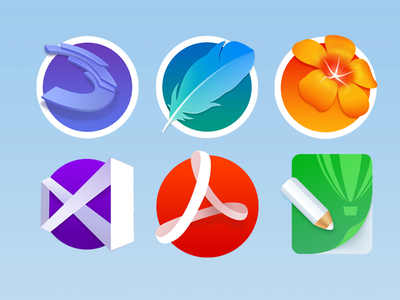 Tuts iconpack illustrator old photoshop ps coreldraw adobe colors colour icons icon tutd