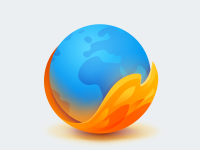Firefox tuts tail browser internet world fox fire icon firefox