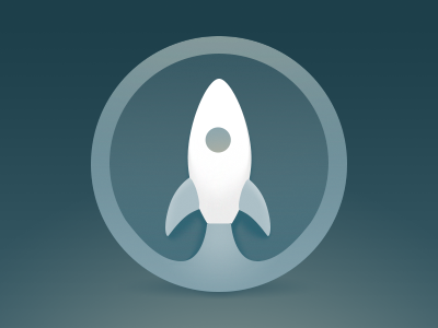 Launchpad Icon dark rocket tuts icon launchpad
