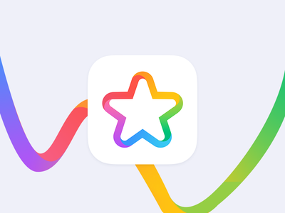 Star icon rainbow star icons design ios icon colorful