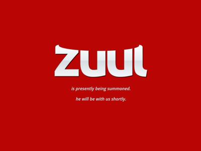 zuul.io logo / brand identity / landing page landing page splash zuul video games gaming wordmark typography logotype logo lettering identity branding