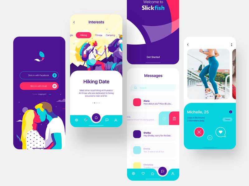Dating App ui mobile branding