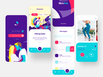 Dating App ui mobile branding