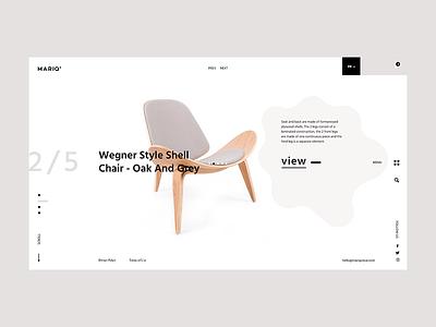 Mariq Oskar website webdesign web ux ui site landing graphicdesign shop webpage concept furniture